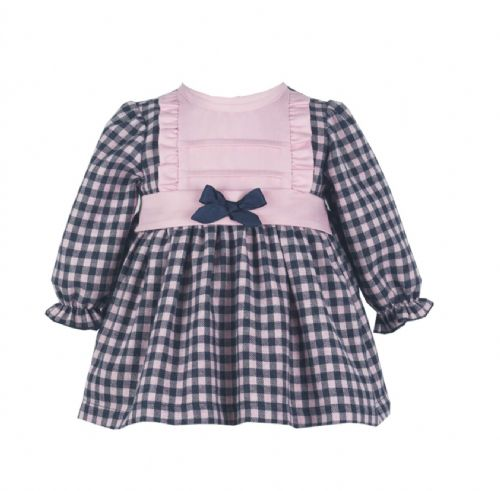 *SALE* Stunning Baby Girl Spanish Long Sleeve Checked Dress
